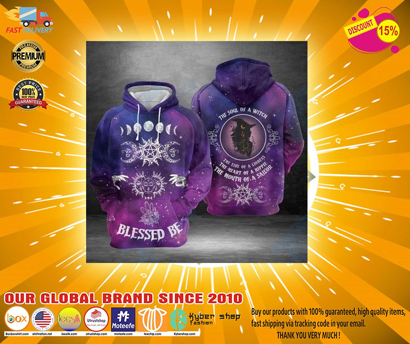 Blessed be the soul of a witch 3D hoodie2