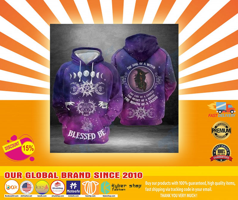 Blessed be the soul of a witch 3D hoodie4