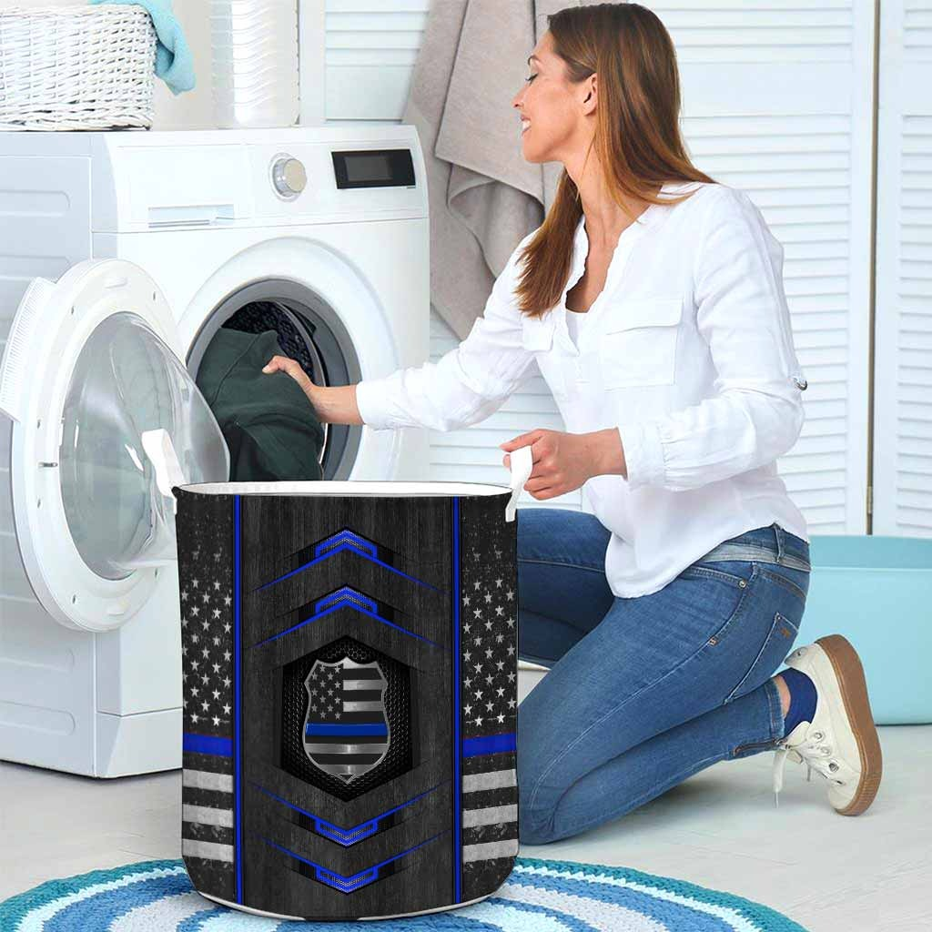 Blue line police basket laundry4