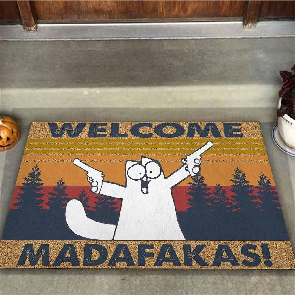 Cat Welcome madafakas doormat1
