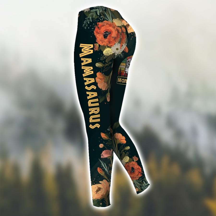 Dont mess with mamasaurus vintage 3D hoodie and legging3