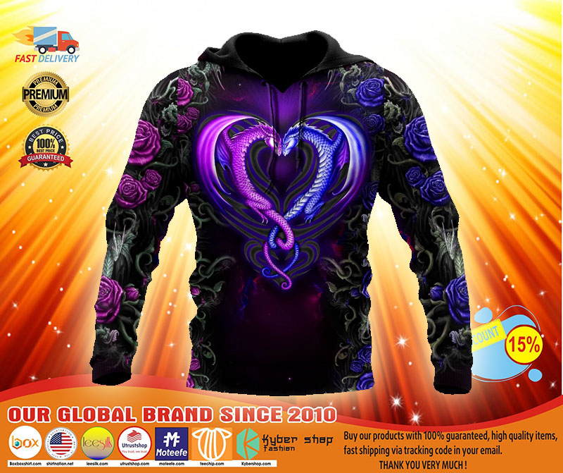 Dragon couples 3D Over print hoodie3