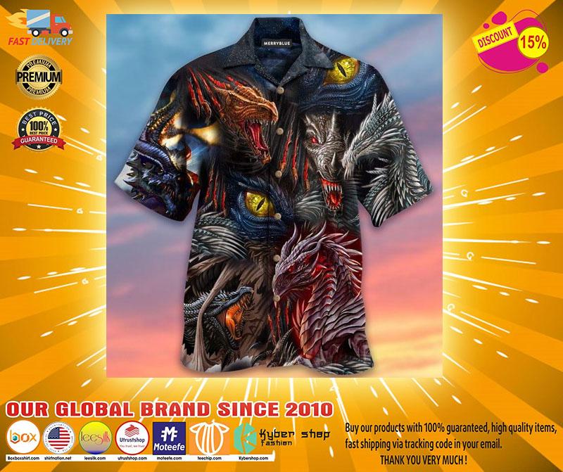 Fire doesnt kill dragon it bears dragon unisex hawaiian shirt2