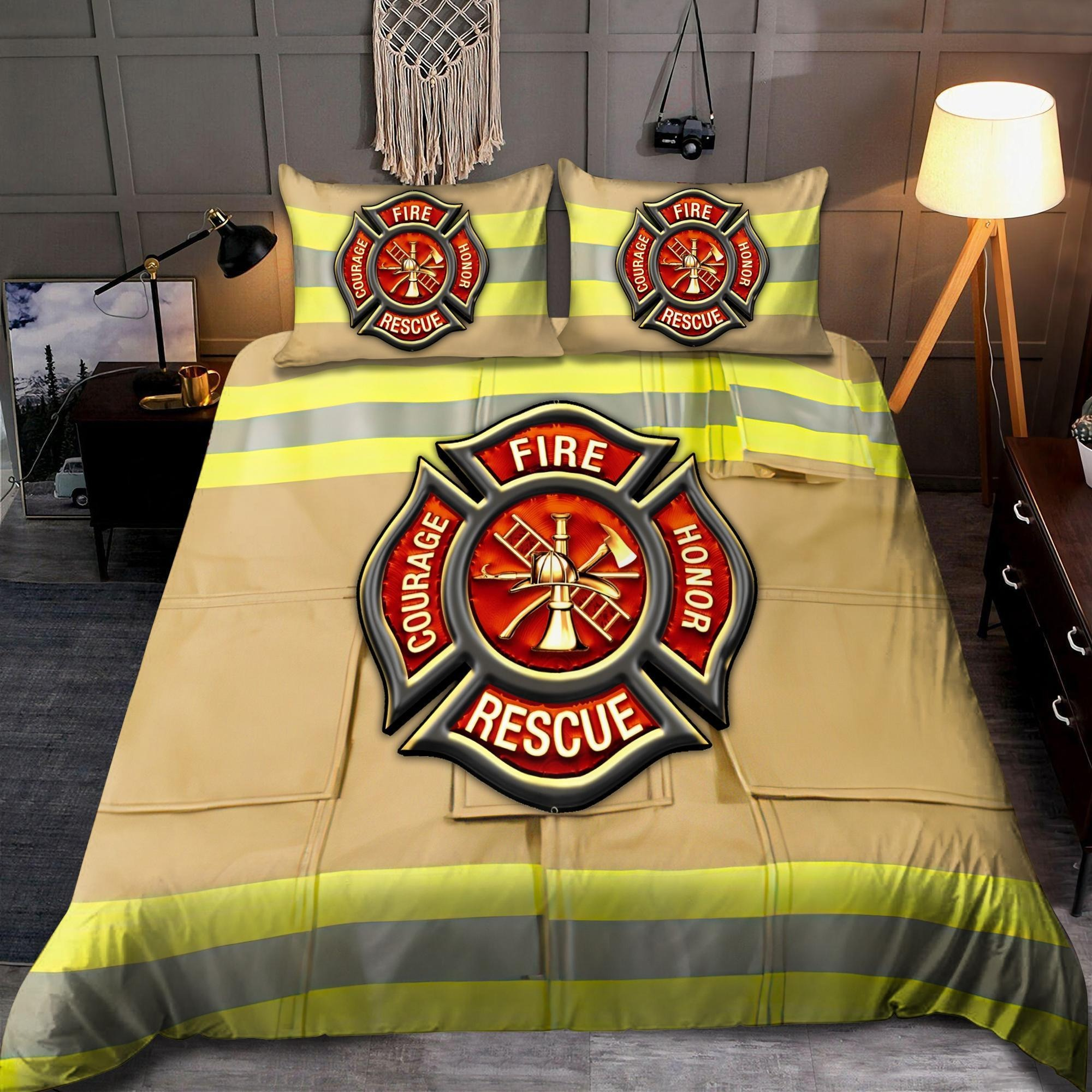 Firefighter Fire Honor Rescue Courage bedding set2