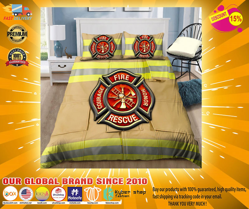 Firefighter Fire Honor Rescue Courage bedding set4
