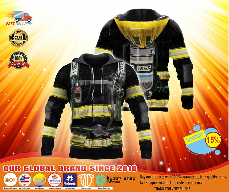 Firefighter suit all over print 3D hoodie3