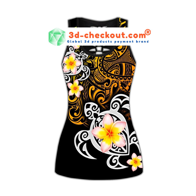Flower tank top and legging2