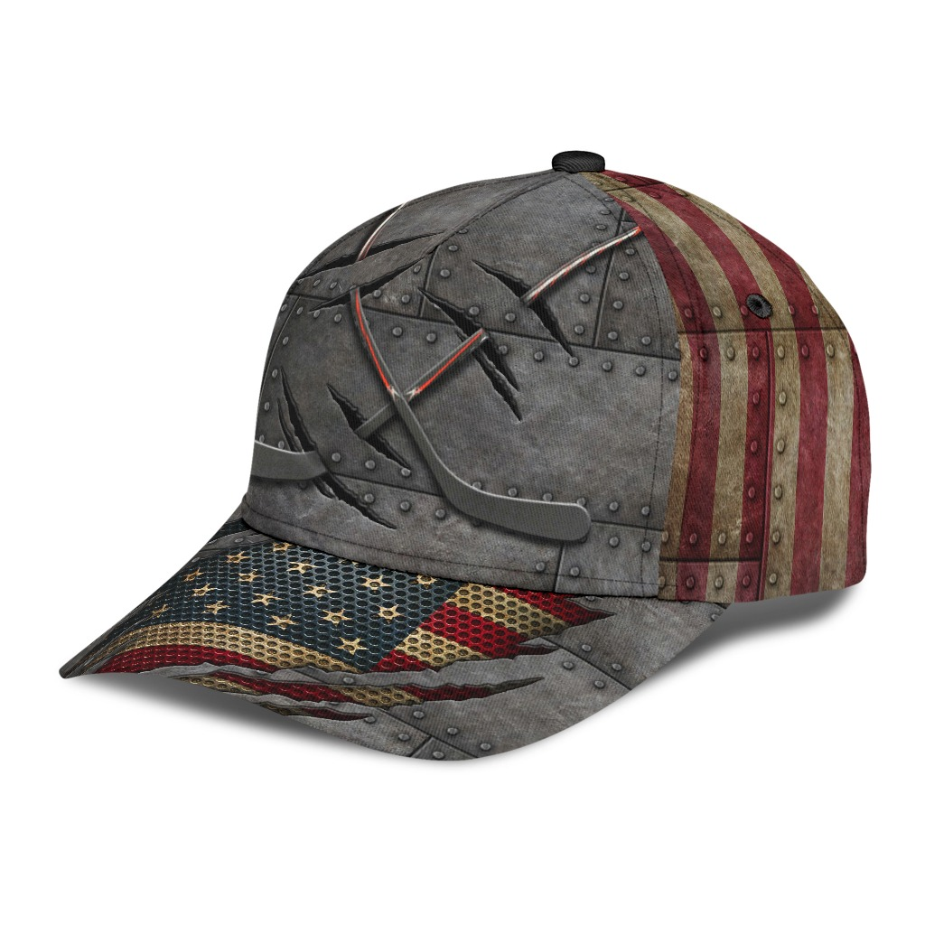Hockey American flag classic cap2