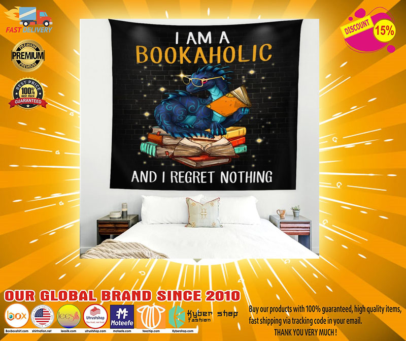 I am a bookaholic and I regret nothing tapestry2