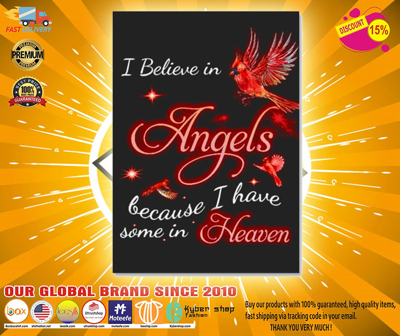 I believe in angels because I have some in heaven sticker2