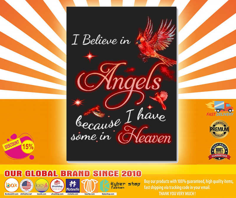 I believe in angels because I have some in heaven sticker4