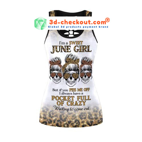 Im a sweet june girl skull tank top and legging2 1