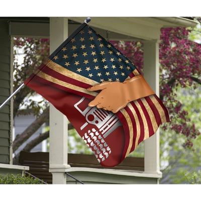 Jeep hand American flag3