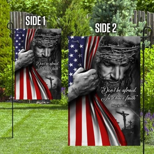 Jesus christian dont be afraid flag2