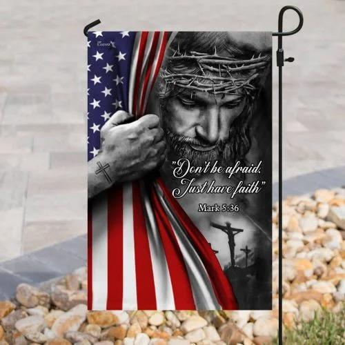 Jesus christian dont be afraid flag4