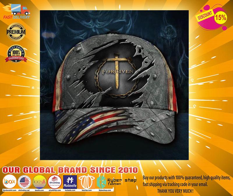 Jesus forgiven American flag classic cap2