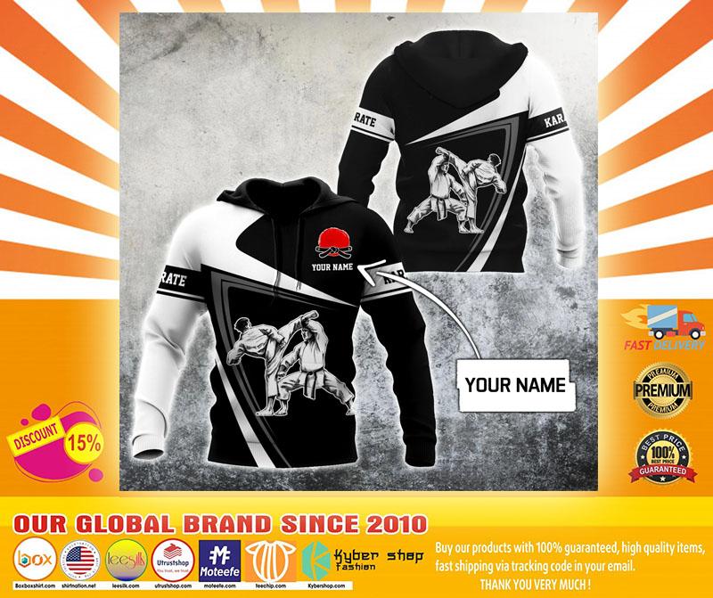 Karate custom name 3D hoodie4