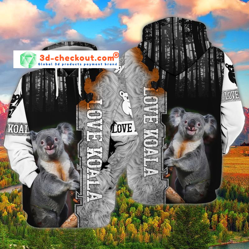 Koala 3D all over print hoodie2