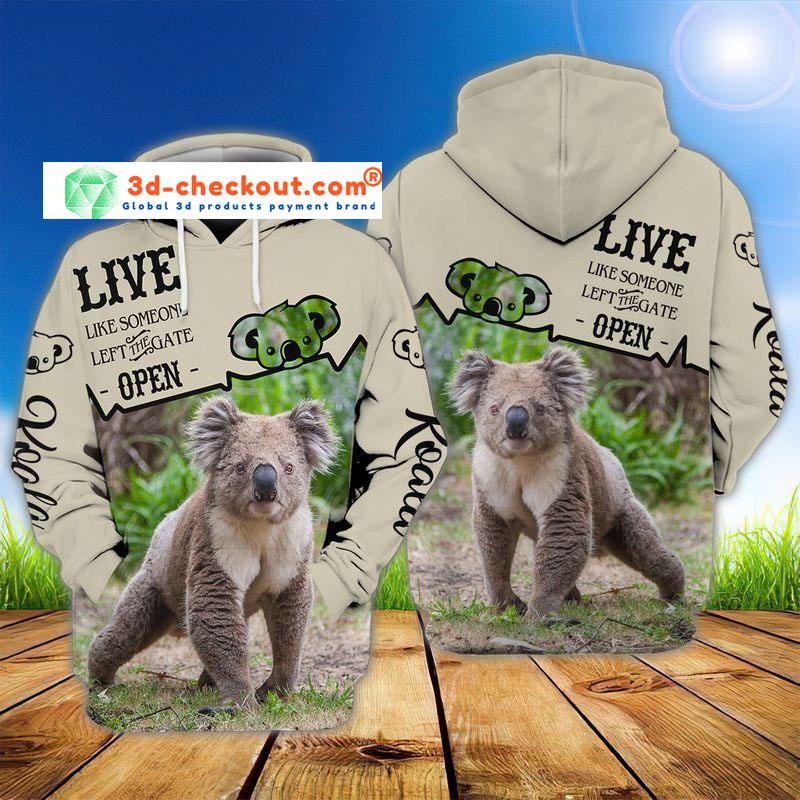 Koala 3D all over print hoodie3