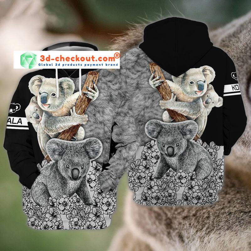 Koala 3D all over print hoodie4