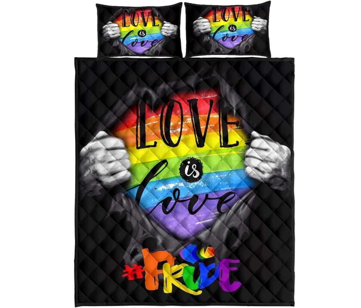 LGBT love is love quilt bedding set4