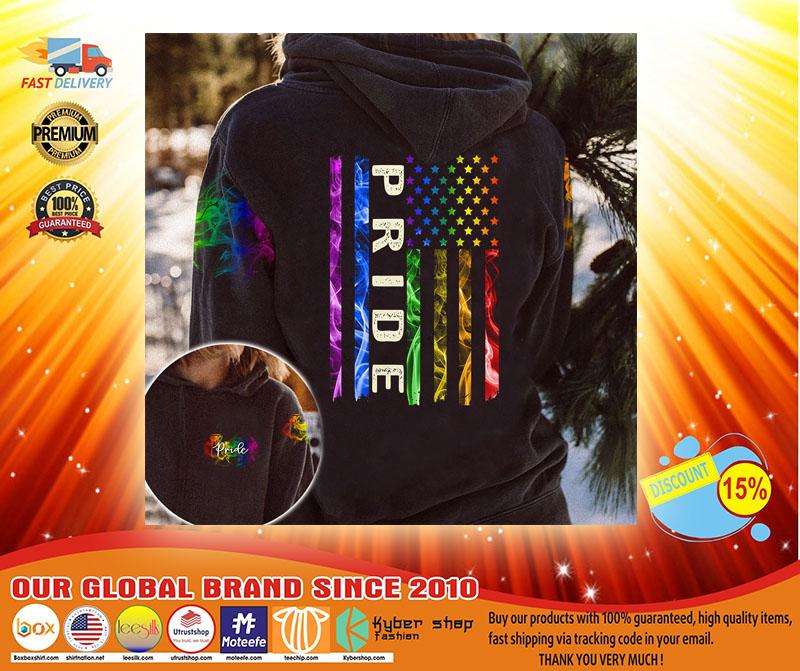 LGBT pride smoke vintage 3D hoodie3