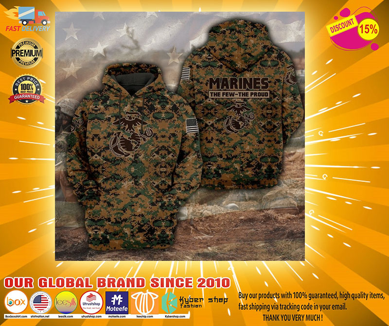 Marines camo forest the few the proud 3D hoodie2