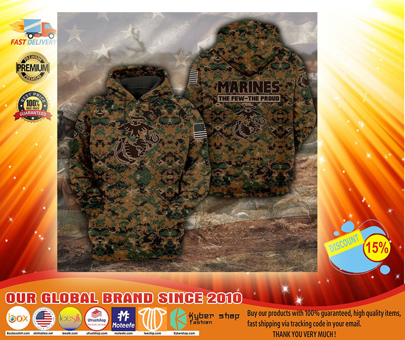 Marines camo forest the few the proud 3D hoodie3