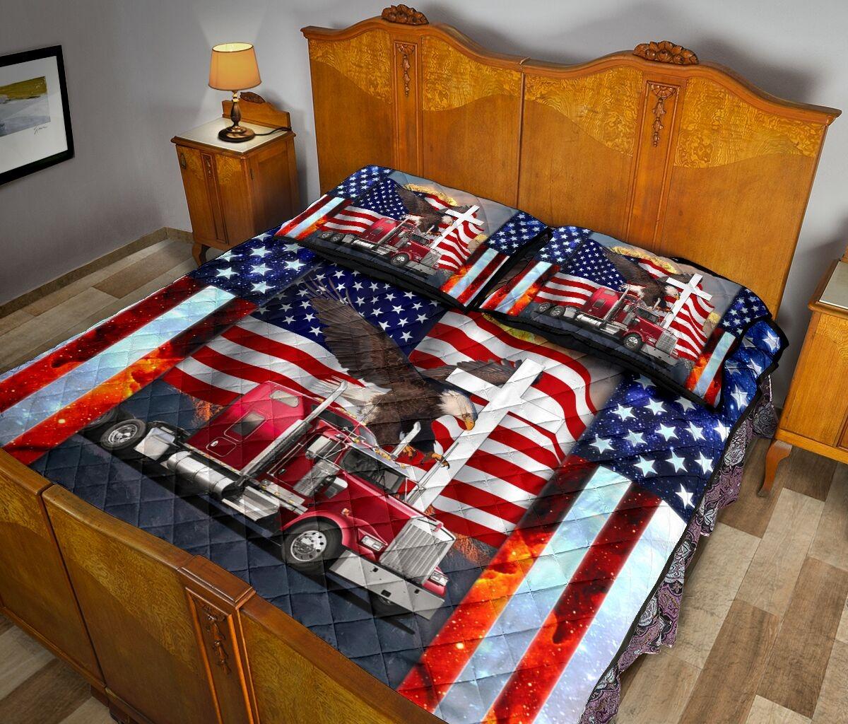 One nation truck quilt bedding set3