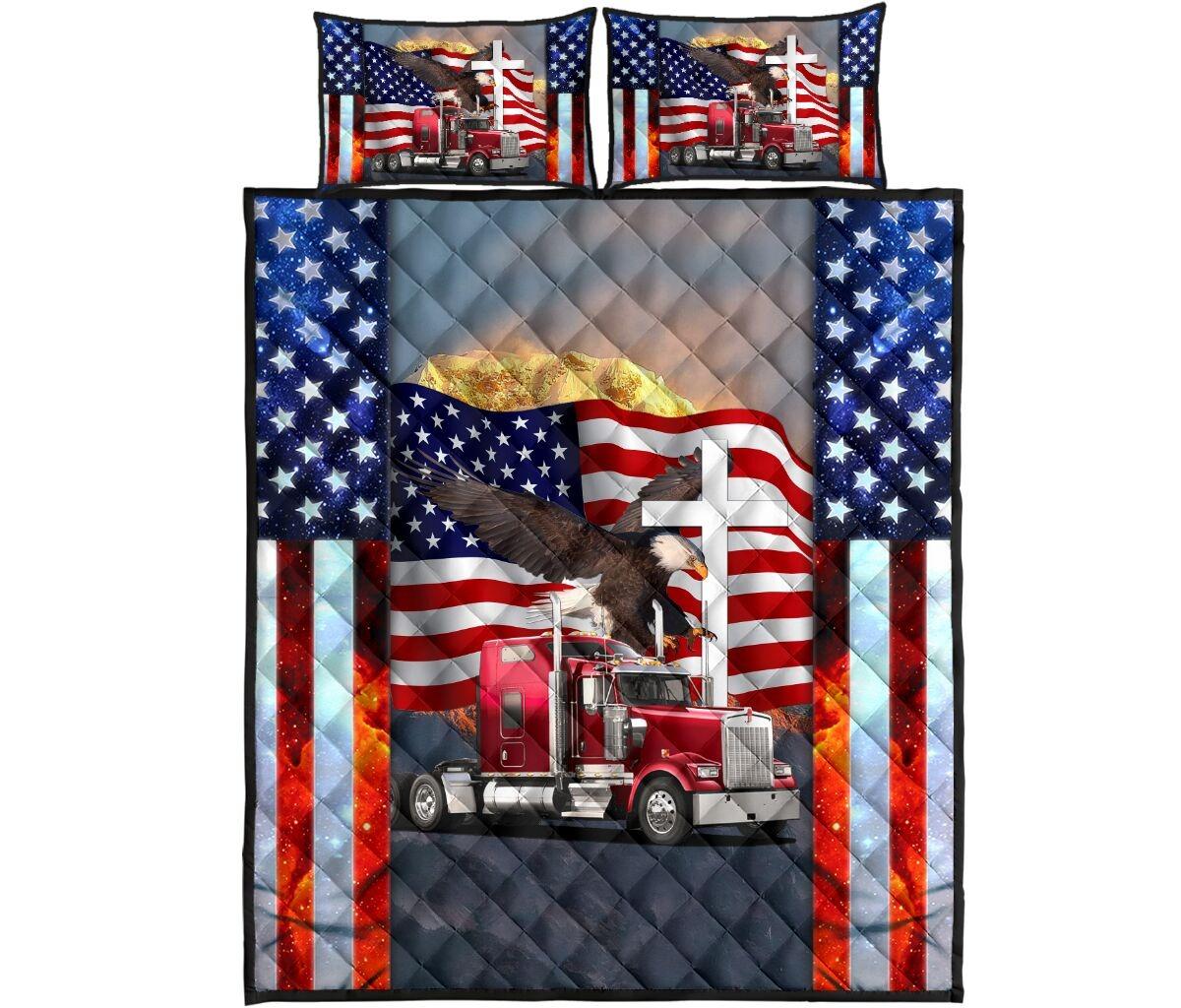 One nation truck quilt bedding set4