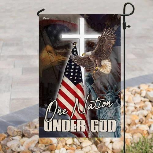 One nation under god American flag2