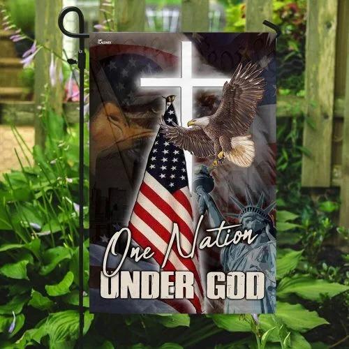 One nation under god American flag3