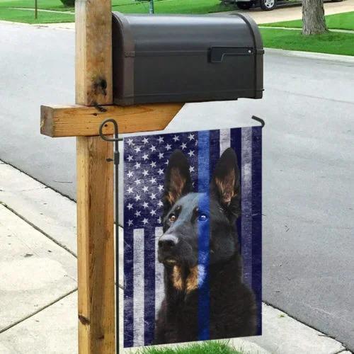 Police dog the thin blue flag2