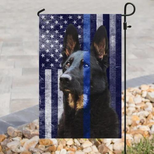 Police dog the thin blue flag3