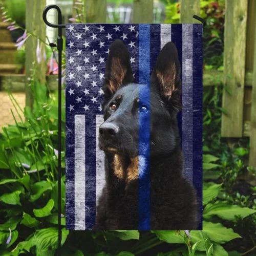 Police dog the thin blue flag4