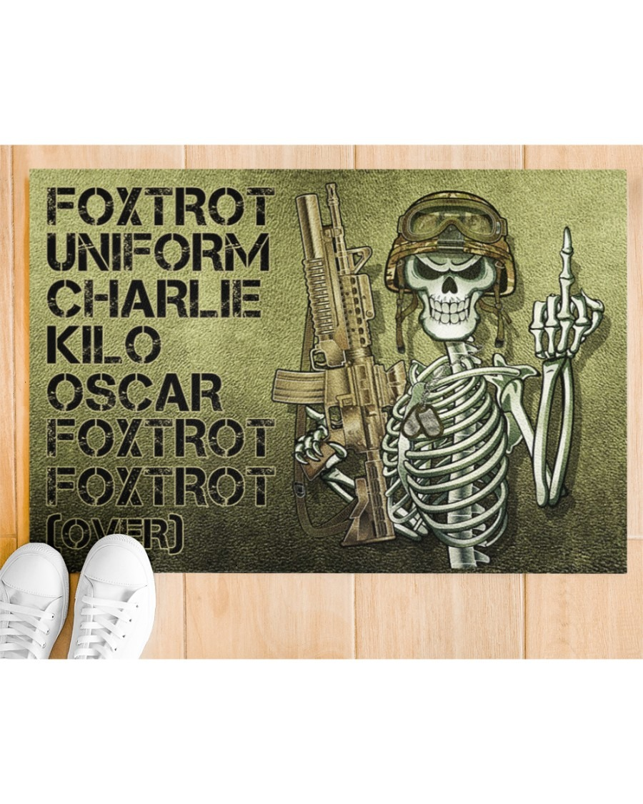 Skeleton Foxtrot uniform charlie kilo oscar doormat2