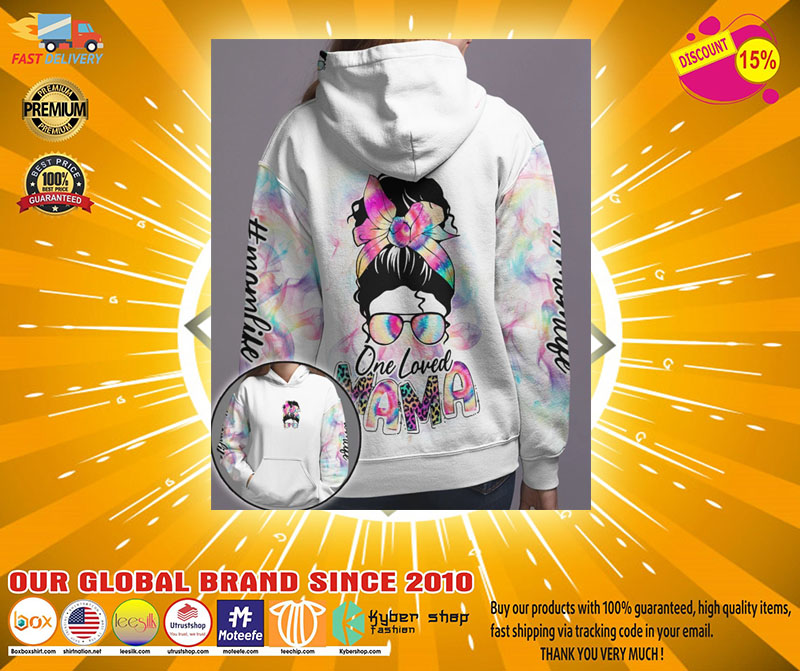 Skull coloful one loved mama 3D hoodie2