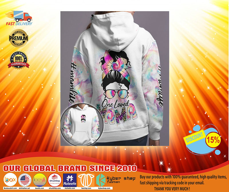 Skull coloful one loved mama 3D hoodie3