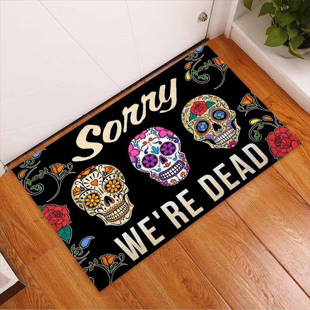 Skull coloful sorry were dead doormat2 1