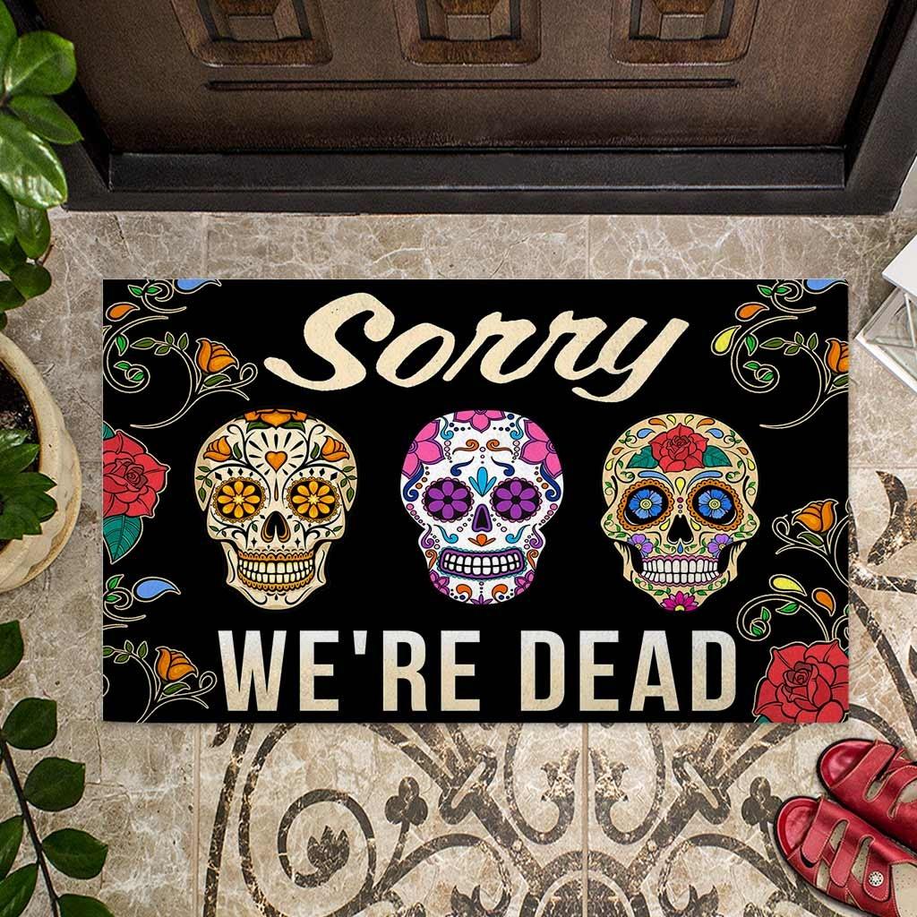 Skull coloful sorry were dead doormat4 1
