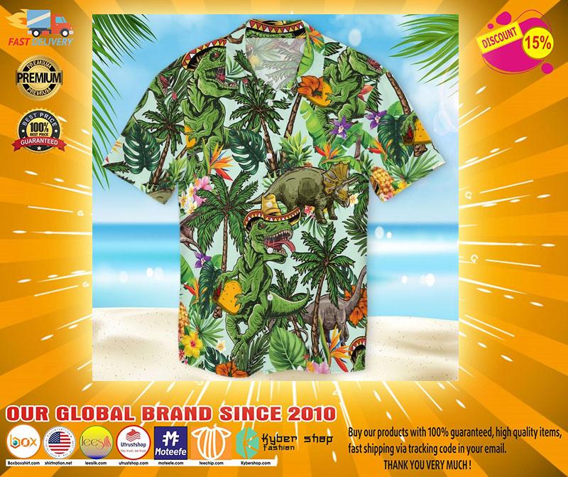 Taco dinosour hawaiian shirt2