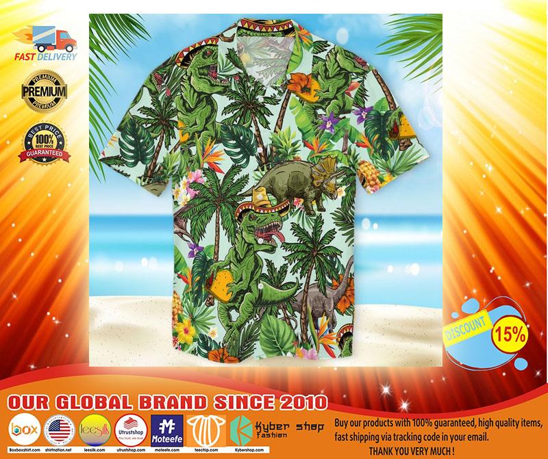 Taco dinosour hawaiian shirt3