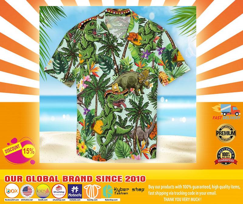 Taco dinosour hawaiian shirt4