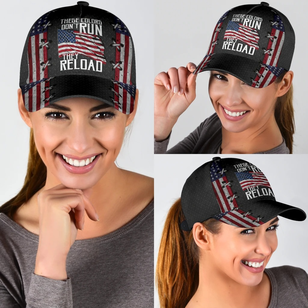These colors dont dun they reload American flag classic cap3
