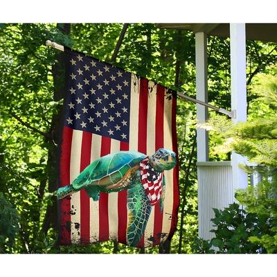 Turtle American US flag4