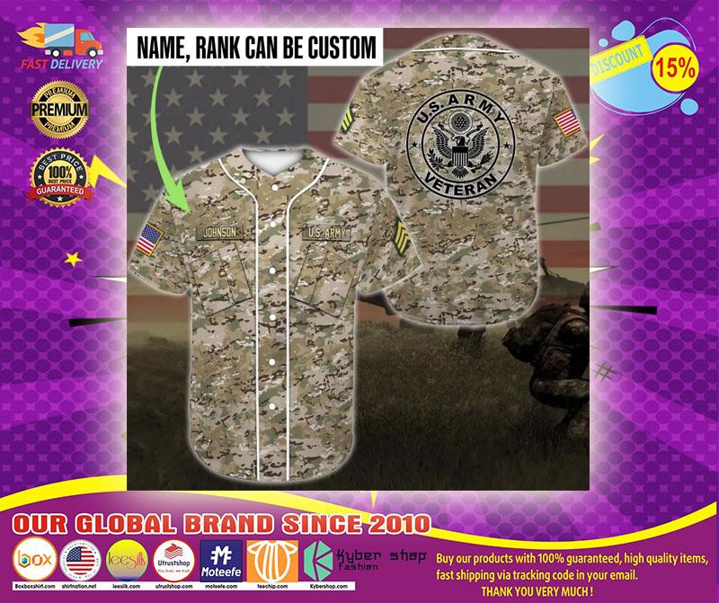 US army veteran custom name Baseball Jersey1
