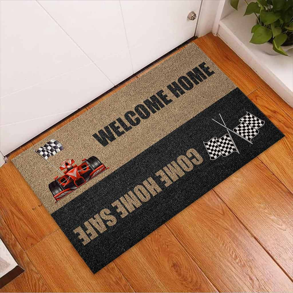 Welcome home come home safe racing doormat2 1