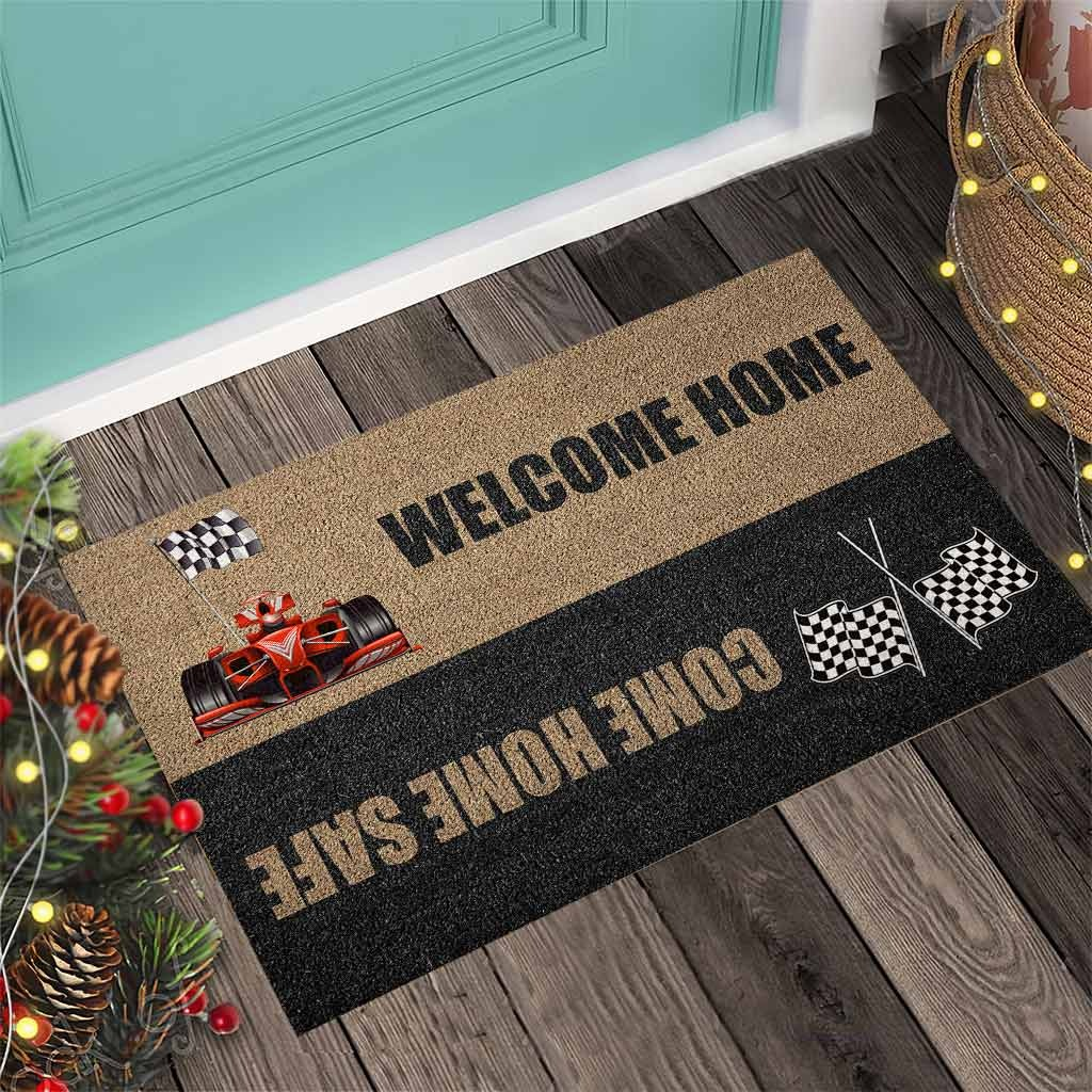 Welcome home come home safe racing doormat3 1
