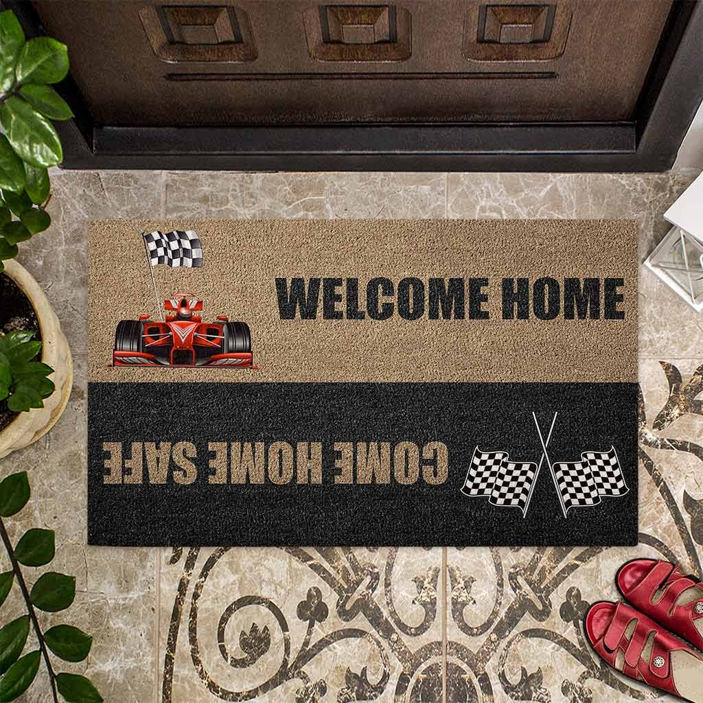 Welcome home come home safe racing doormat4 1