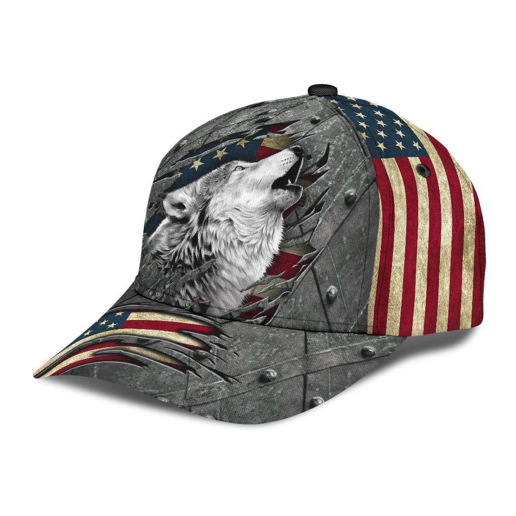 Wofl American flag classic cap2